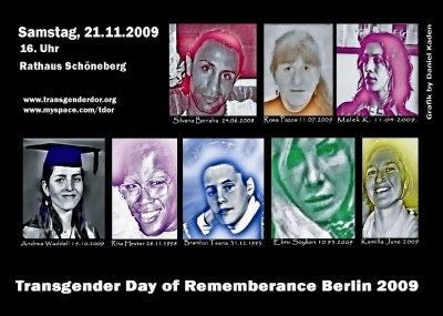 Transgender Day of Remembrance Berlin 2009